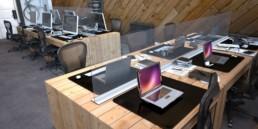 protection en verre pour bureaux en open-space Covid-19
