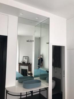 miroir d'angle sur-mesure