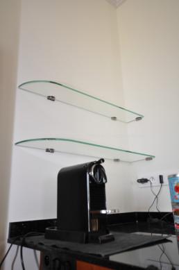 étagères en verre sur-mesure paris