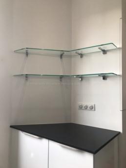 étagères en verre sur-mesure